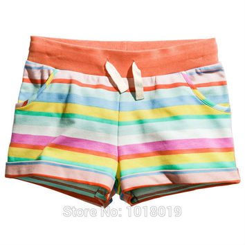 18M~6T, New 2016 Branded Cotton Baby Girls Casual Beach Shorts Children Toddler Clothing Kids Clothing Shorts Pants Girls Summer