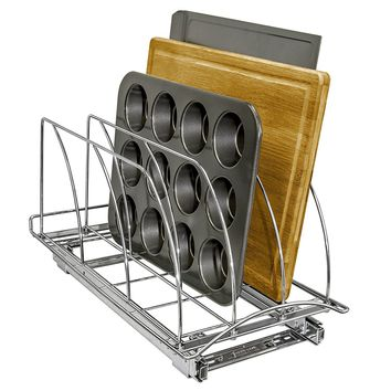 Roll Out Cutting Board, Bakeware, and Tray Organizer