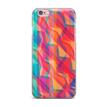 "Miranda Mol ""Triangle Opticals"" Pink Multicolor iPhone Case"