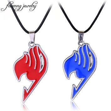 Popular Anime Fairy Tail Necklace Guild Tattoo Logo Leather Pendant Jewelry Fashion Choker Necklace For Fans Cosplay Accessories