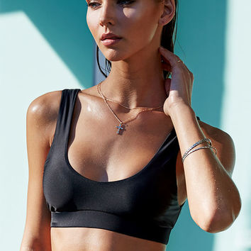 LA Hearts LUXE Sporty Seamless Bralette Bikini Top at PacSun.com