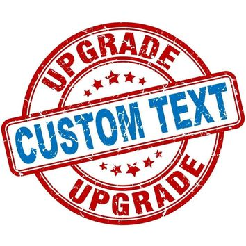 Custom Text Upgrade