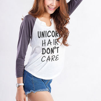 Unicorn Shirt Funny Printed Tee Womens Baseball Tee Shirt Tumblr Fashion Sweatshirt Cool Gift Girls Unisex sizing Women Tumblr Blogger