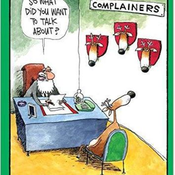 36 Boxed 'Complainers' Christmas Cards with Envelopes, Happy Holidays with Funny Reindeer and Silly Santa Claus Christmas Notes, Dark Humor Christmas Cards