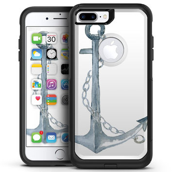 Watercolored Grungy Chained Anchor - iPhone 7 or 7 Plus Commuter Case Skin Kit