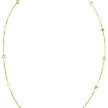 DCCKIN3 Luis Miguel Howard 18k Gold Stars and Diamond Necklace
