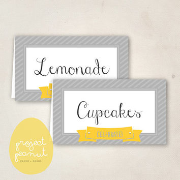 Printable Place Cards: Celebrate! [Instant Download]