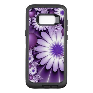 Falling in Love Abstract Flowers & Hearts Fractal OtterBox Defender Samsung Galaxy S8+ Case