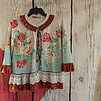 Sweater | Upcycled Women's Clothes | Altered Clothing | Shabby Tattered Shirt