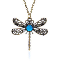 REDUCED!!  Vintage, Necklace, Turquoise, Dragonfly, Story, Long Chain, Pendant, Turquoise Necklace Long Chain Pendent  Reduced Price!!!