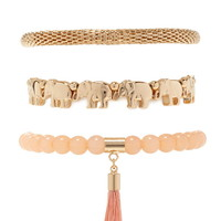 Elephant Stretch Bracelet Set