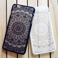 Vintage Lace Floral Case for iPhone 7 7 Plus & iPhone se 5s & iPhone 6 6s Plus Cover -0321