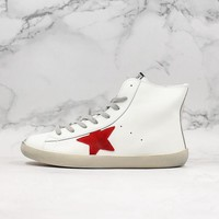 Golden Goose GGDB Francy Zip Sneakers With Red Leather Star - Best Online Sale