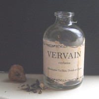 VERVAIN POTION BOTTLE Verbena Herb Halloween Vampire Hunter Twilight Dracula Curiosity
