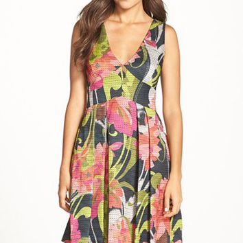 Women's Trina Turk 'Evianna' Floral Print Woven Fit & Flare Dress,