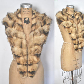 Fitch Fur Collar / genuine fur shawl wrap