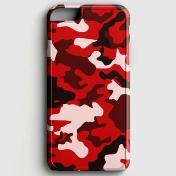 Camouflage Red Logo iPhone 8 Case