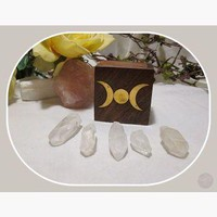 """Clarity & Wisdom"" Clear Quartz Point Travel Set"