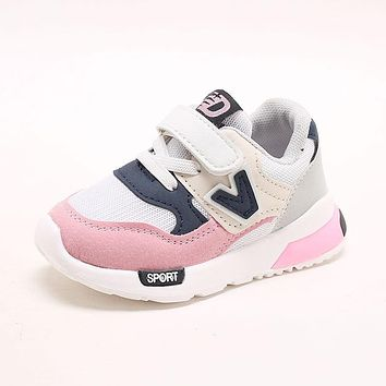 Kids Shoes for Baby Boys Girls Children's Casual Sneakers Air Mesh Breathable Soft Running Sports Shoes Pink Gray