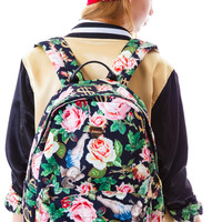 Joyrich Angelic Rich Floral Backpack Black One