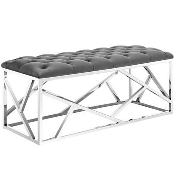 Intersperse Bench Silver Gray EEI-2867-SLV-GRY