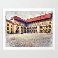 Cracow art 17 Wawel #cracow #krakow #city Art Print by jbjart
