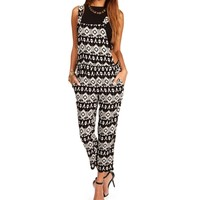 Black/Ivory Tribal Overalls