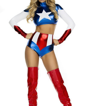 Pretty Patriot 3 Pc. Super Hero Costume