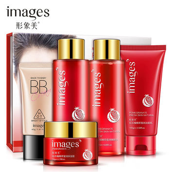 IMAGES Red Pomegranate 5-Piece Skin Care Set - Moisturizer/Cleanser/Toner/BB Cream/Lotion