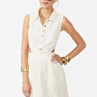 Carmen Lace Dress - Ivory