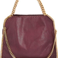 Stella McCartney - The Falabella medium faux brushed-leather shoulder bag