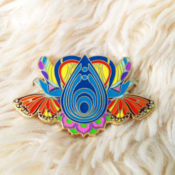 Teleport Massive - Bassnectar inspired Hat Pin