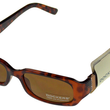 Levi Strauss DOCKERS Womens Sunglasses 100% UV Brown Marble Plastic 52-19-140