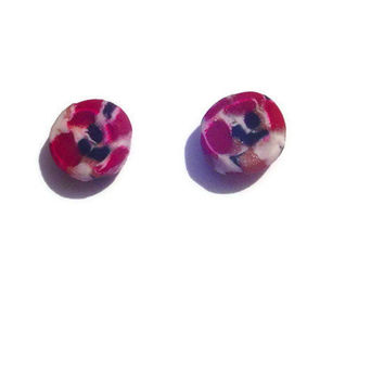 Petite Earrings Polymer Clay Studs Titanium Post by BrandonArtists