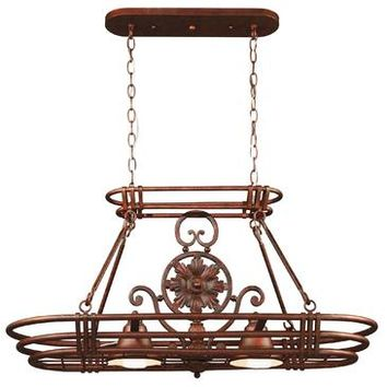 Kenroy Dorada 2 Light Pot Rack