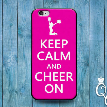 iPhone 4 4s 5 5s 5c 6 6s plus iPod Touch 4th 5th 6th Generation Funny Cover Pink Fun Keep Calm Quote Cheer Cheerleading Cheerlead Phone Case
