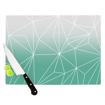 "Mareike Boehmer ""Simplicity"" Teal White Cutting Board"