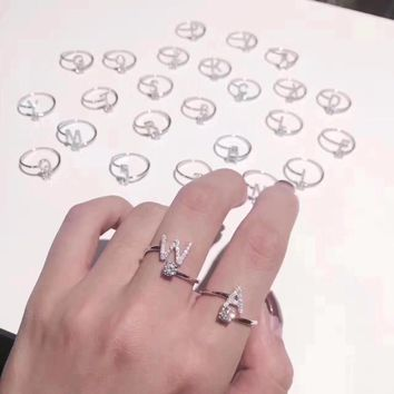 Custom Personalized Alphabet Rings A-Z Initial Letter Name Rings Couple Rings Charm Jewelry Fashion Love Gift  High Quality New