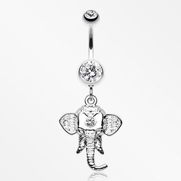 Shri Ganesha Elephant Belly Button Ring