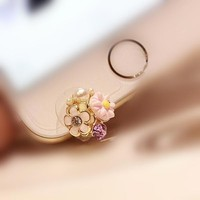 Double matte daisy front for iPhone6 phone dust plug cell phone accessories 3.5mm earphone dust plug