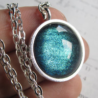 Current - Silver Necklace - Science Jewelry - Galaxy Jewelry - Physics Jewelry - Planet Jewelry - Galaxy Necklace - Nebula necklace