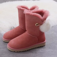 Women's UGG snow boots Mid-tube women's boots DHL _1686248855-388