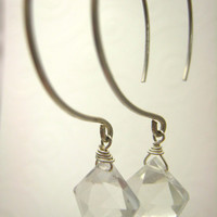 Sterling Silver Hoop Earrings Wire Wrapped by SiennaGraceJewelry