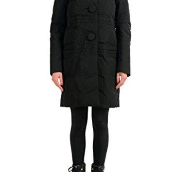 Moncler Women's Giubbotto Black Down Parka Jacket Sz 1 US S