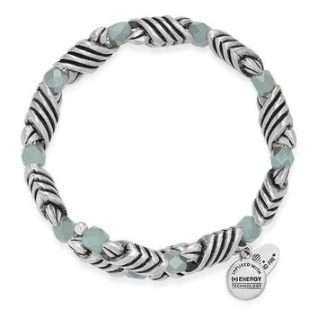 Alex and Ani Milkweed Forest's Blessing Wrap - Rafaelian Silver Finish