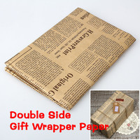 Double Sided Wrapping Kraft Paper Packing Paper Vintage Christmas Holiday New W