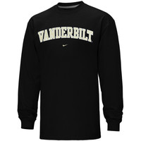 Nike Vanderbilt Commodores Vertical Arch Long Sleeve T-Shirt - Black