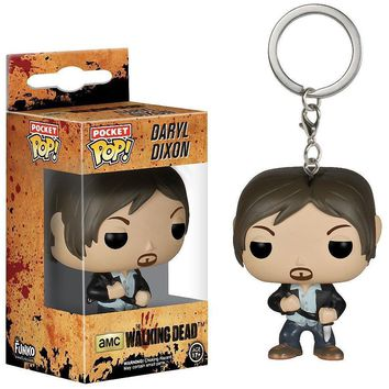 Funko Pocket the Walking Dead Daryl Rubber Pocket Keychain Great quality Christmas Gift
