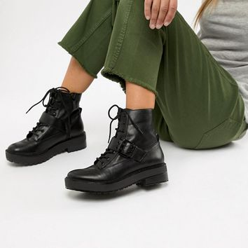Bershka lace up boot at asos.com