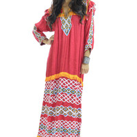 Tribal Fringe Maxi Dress